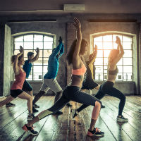 Weight Loss Exercise Workout class of men and women