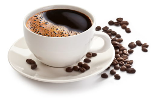 Is coffee a thermogenic? Coffee cup and beans